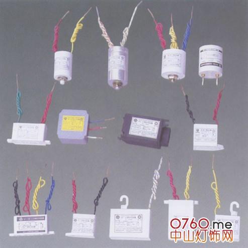 金卤灯胆十镇流器十触发器十电阻接线图