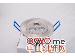 LED压铸天花灯,3*1W天花灯