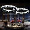 卡伯森八字形简约LED客厅吊灯现代餐厅灯水晶吊灯具