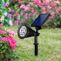 别墅太阳能LED草坪花园照明庭院投光亮化端景台灯饰地插可旋转