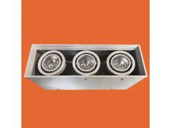 炜圣照明 3x7W射灯 MR16铁材三位位明装射灯筒灯天花灯