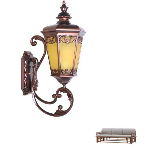 厂家直销新款六角窗花壁灯门口过道庭院壁灯全铝复古户外壁灯批发