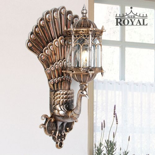 新款悦莱雅中式 灯室内户外孔雀壁灯床头灯电视背景墙阳台灯