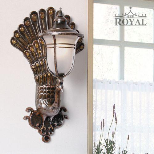 新款悦莱雅中式壁灯室内户外孔雀壁灯床头灯电视背景墙灯阳台灯