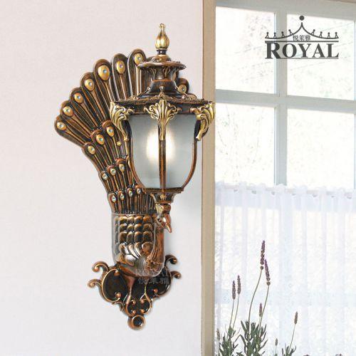 创意孔雀中式壁灯户外过道防水壁灯电视背景墙灯室内玄关装饰壁灯