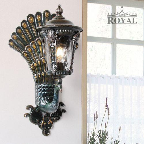悦莱雅欧式孔雀壁灯个性壁灯电视背景墙灯阳台灯孔雀壁灯厂家批发