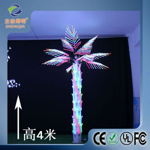 全彩LED棕榈树灯发光景观葵树灯4*3米 酒店工程品牌 厂家直销