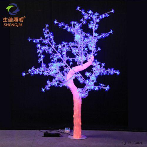 新款LED水晶滴胶仿真树灯 1.8米高RGB色户外防雨 220V 质保两年