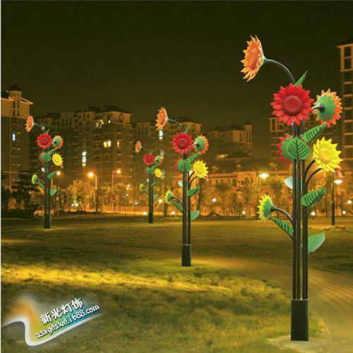供应向日葵树灯  LED景观灯 真景观灯,环保、寿命长LED仿真树