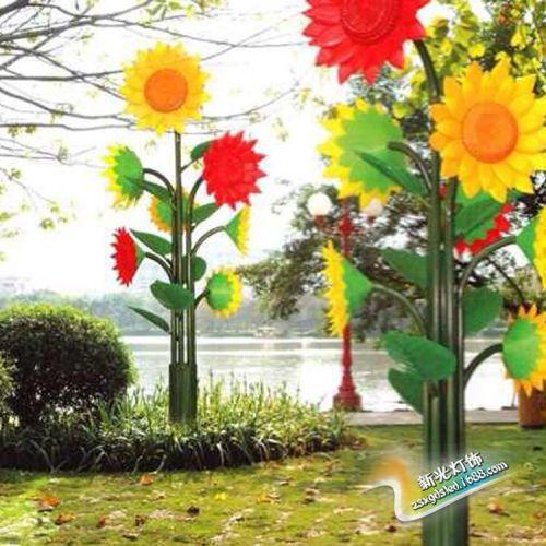 供应LED向日葵树灯、节能,亮度高,妩媚的姿态、南国的风情。
