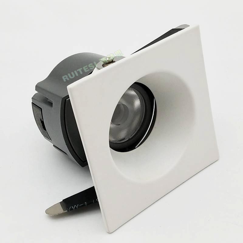 LED压铸COB方形射灯外壳 酒店射灯套件单边调角度COB酒店射灯外壳