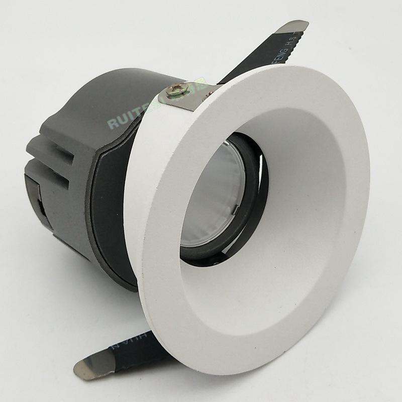 压铸LED射灯深眩聚光COB天花灯 筒灯  单角度射灯15W外壳套件
