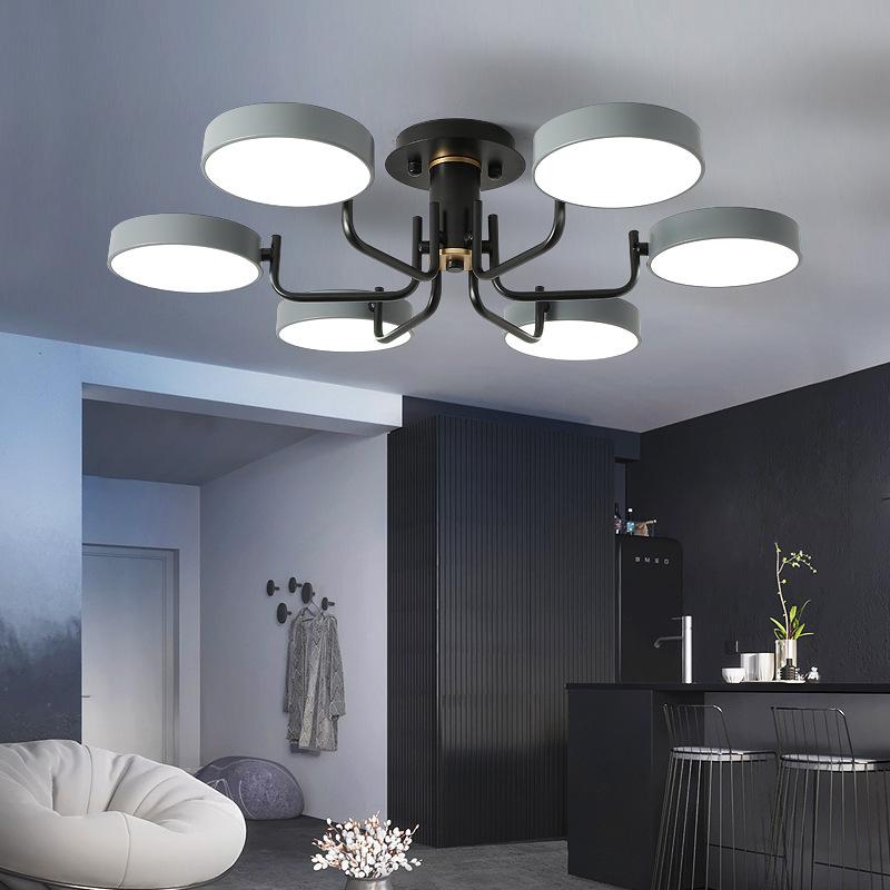 灯具现代简约大气家用创意个性卧室吸顶灯LED灯北欧轻奢客厅吊灯