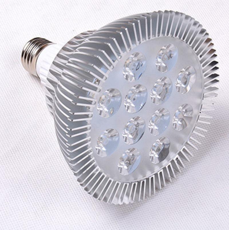LED灯杯射灯 大功率连体透镜射灯par38超亮E27 220V 植物生长灯具