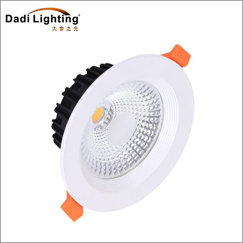 批发筒灯led天花灯高亮天花灯COB压铸灯商业照明嵌入式筒灯孔灯桶