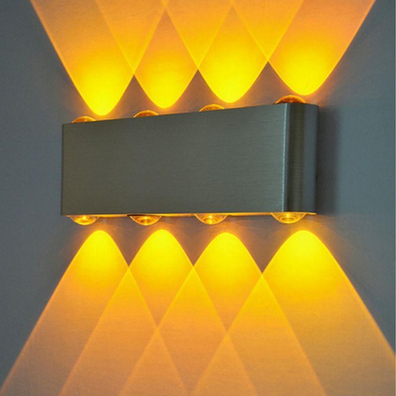 LED8w长方形壁灯创意铝材灯走廊过道灯会所酒吧ktv背景墙装饰灯