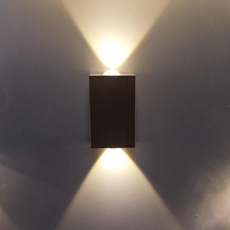 LED2w6w长方形壁灯双头创意铝材灯酒吧ktv背景墙装饰灯走廊过道灯