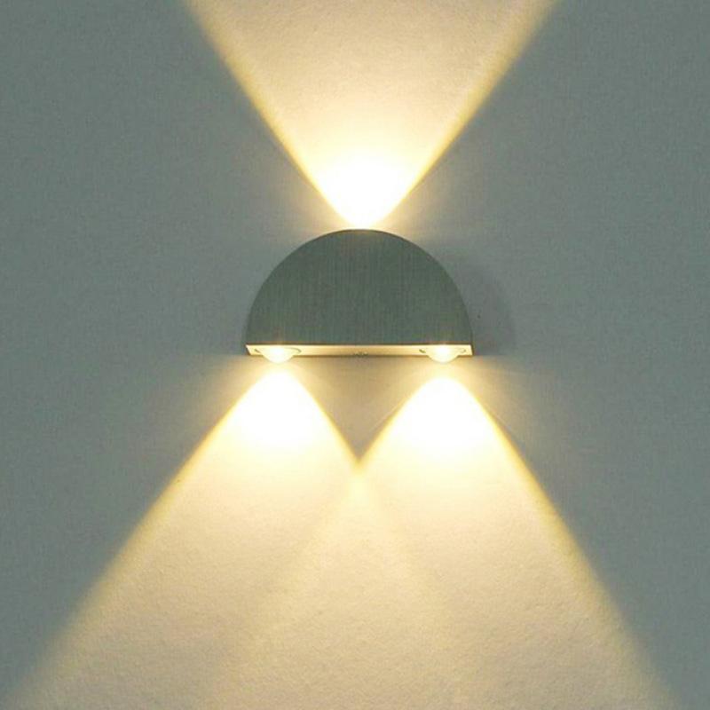 LED半圆壁灯铝材灯室内酒店ktv酒吧装饰灯背景墙光效彩灯3w