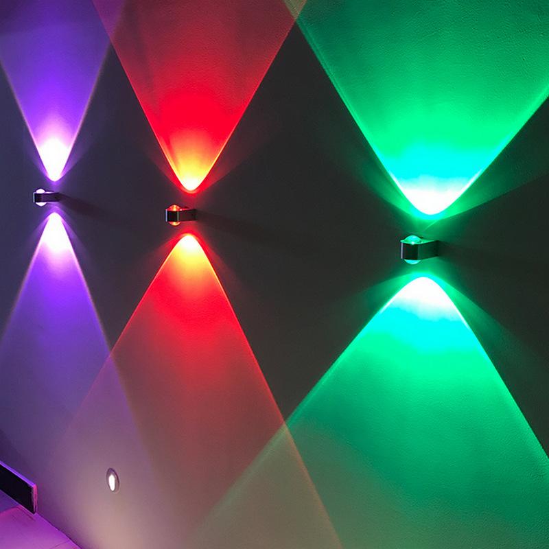 跨境货源2w双面水晶壁灯创意铝材壁灯电视背景墙装饰灯走廊过道灯