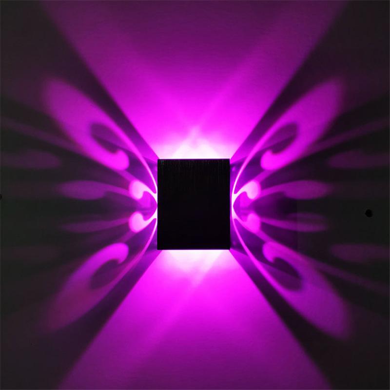 跨境货源LED蝴蝶壁灯 室内 创意灯走廊过道灯背景墙装饰灯1w3w