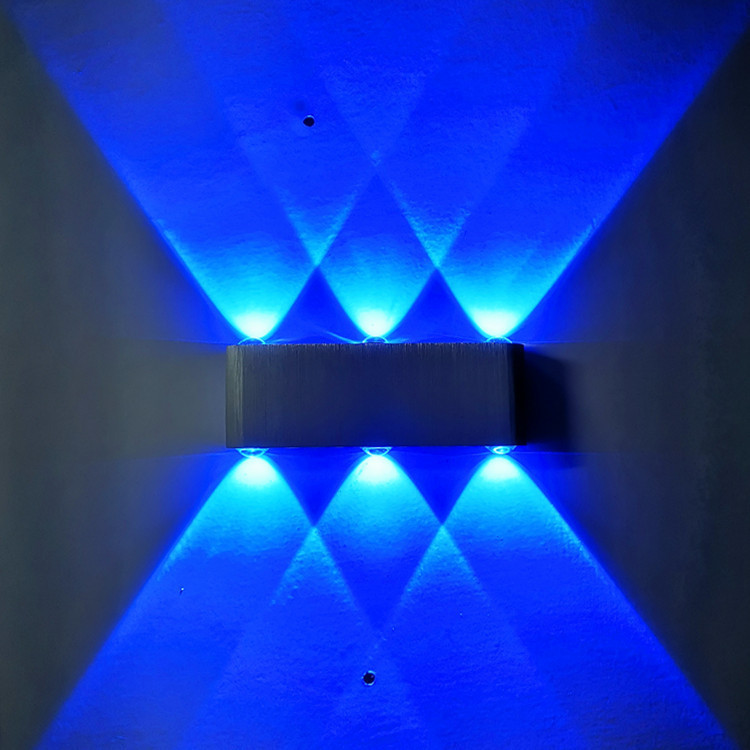 led6w壁灯铝材创意光效灯走廊过道背景墙装饰灯酒店ktv效果灯彩灯