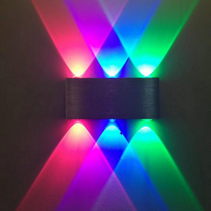 LED现代长方形壁灯创意铝材灯6w走廊灯酒吧ktv会所网吧室内装饰灯