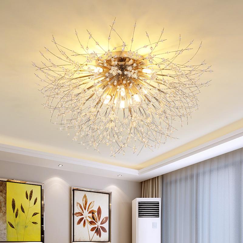 创意卧室水晶吸顶灯后现代轻奢浪漫婚房餐厅书房小客厅装饰照明灯