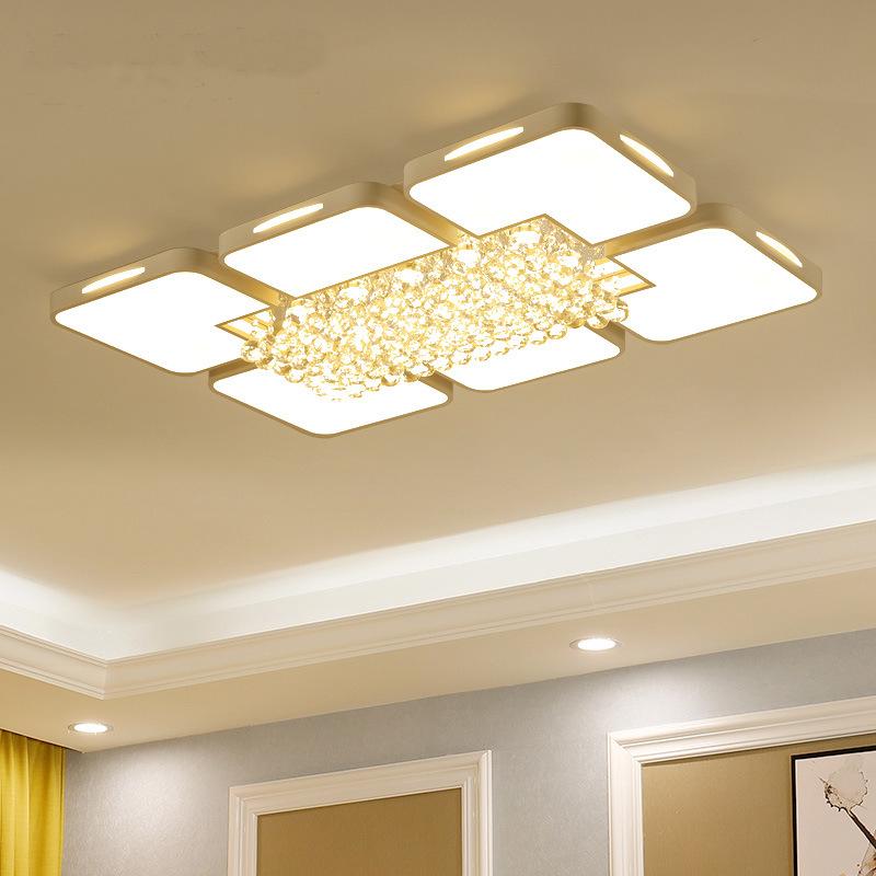 厂家直销大气客厅水晶吸顶灯长方形简约轻奢卧室餐厅水晶装饰灯具