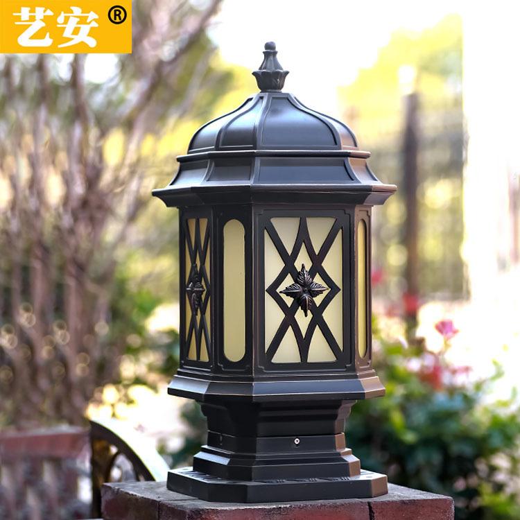 北斗星柱头灯户外围墙大门柱子院墙灯防水室外欧式花园别墅庭院灯