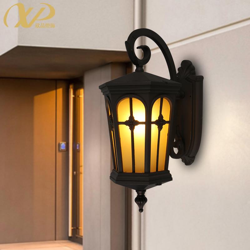 简约户外壁灯美式防水庭院灯室外过道阳台灯露台灯外墙阳光房灯