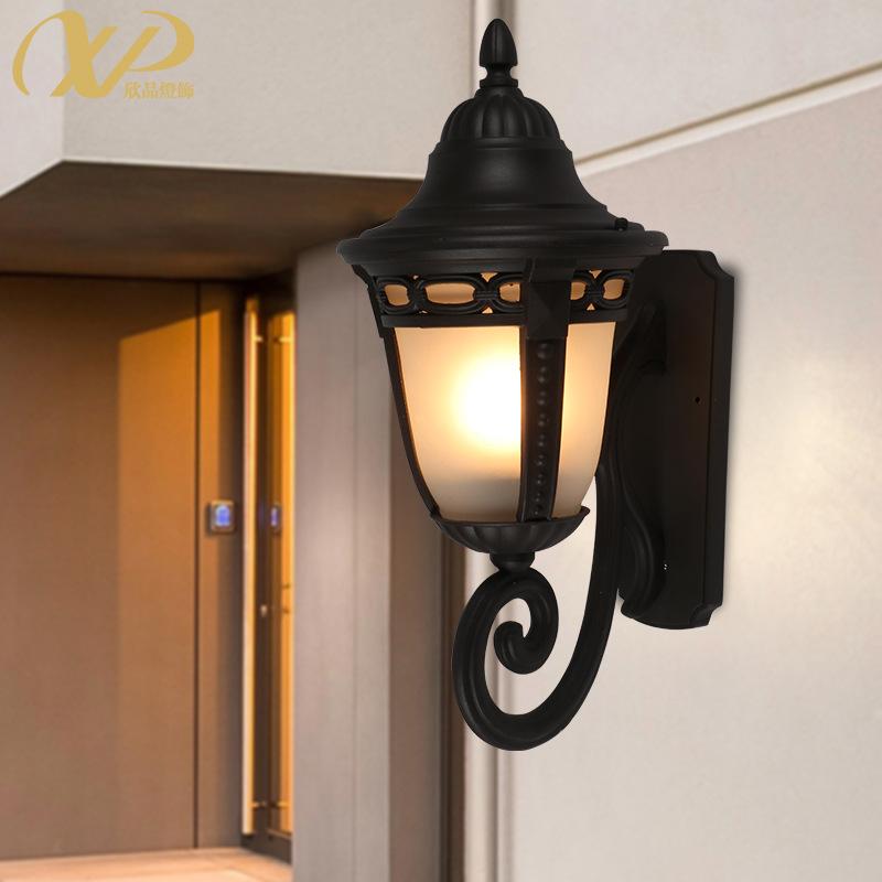 户外壁灯美式简约防水庭院灯室外过道阳台灯露台灯外墙阳光房灯