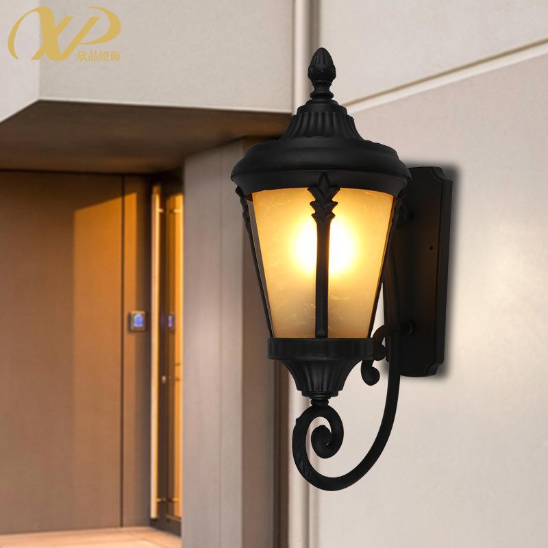 欧式户外壁灯方形防水阳台灯室外阳光房墙灯景观庭院灯过道走廊灯
