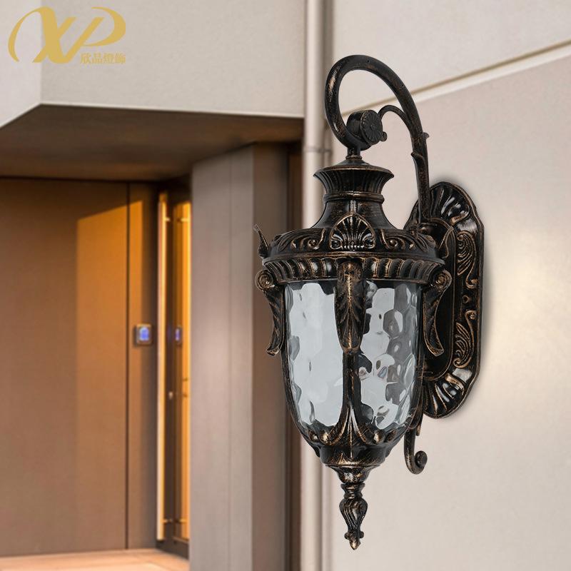 欧式户外防水壁灯简约室外led庭院灯阳台走廊过道灯现代楼梯墙灯