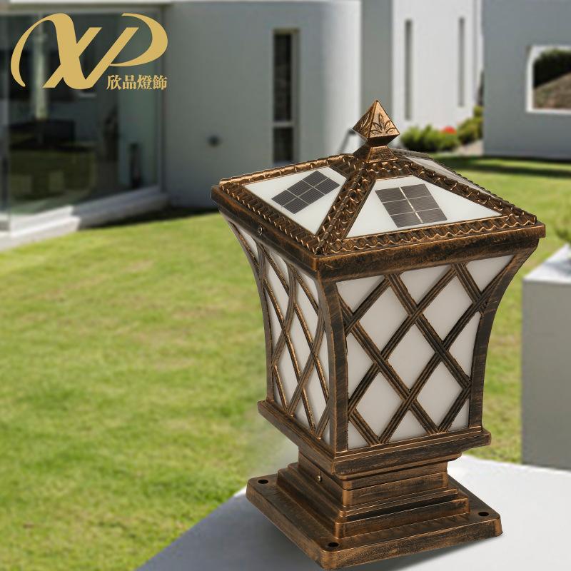 太阳能柱头灯LED户外防水庭院别墅墙头围墙大门灯家用门柱灯