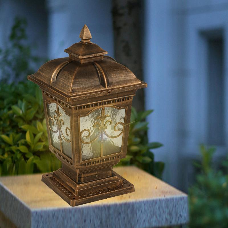 欧式景观庭院灯户外防水小区公园别墅柱头灯防雨铝材围墙灯