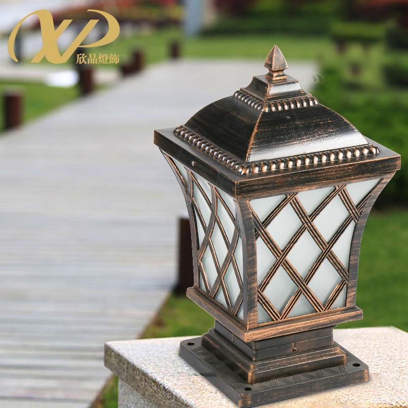 户外庭院灯家用高亮围墙灯古铜色室内花园别墅灯室外防水柱头灯