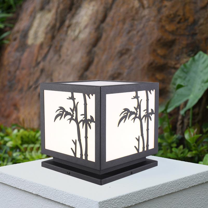 新款led太阳能柱头灯户外防水小区别墅大门柱子灯围墙庭院灯厂家