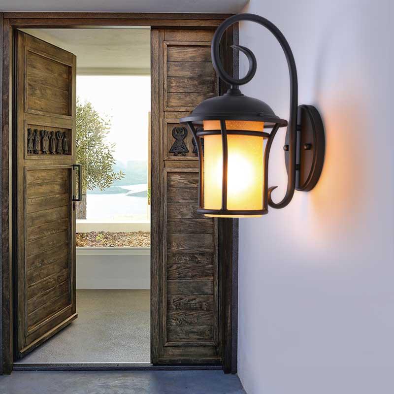 跨境户外复古防水壁灯室外小区别墅花园景观灯庭院灯现货批发壁灯