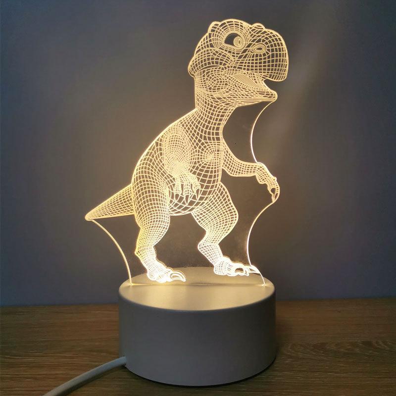 亚克力恐龙小夜灯创意3d立体小台灯ins少女心赠品公司活动伴手礼