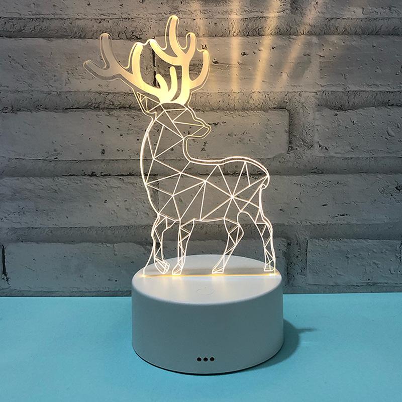 创意小礼品定制公司logo活动节日开业伴手礼实用个性充电3d小夜灯