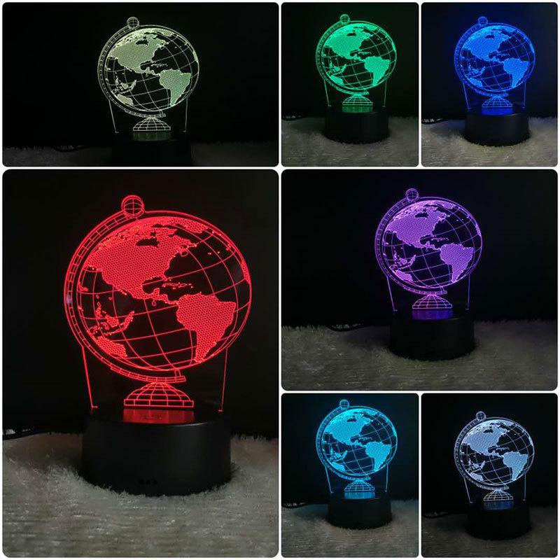 创意3d小夜灯触控台灯led七彩卧室床头灯 实用定制logo活动礼品灯