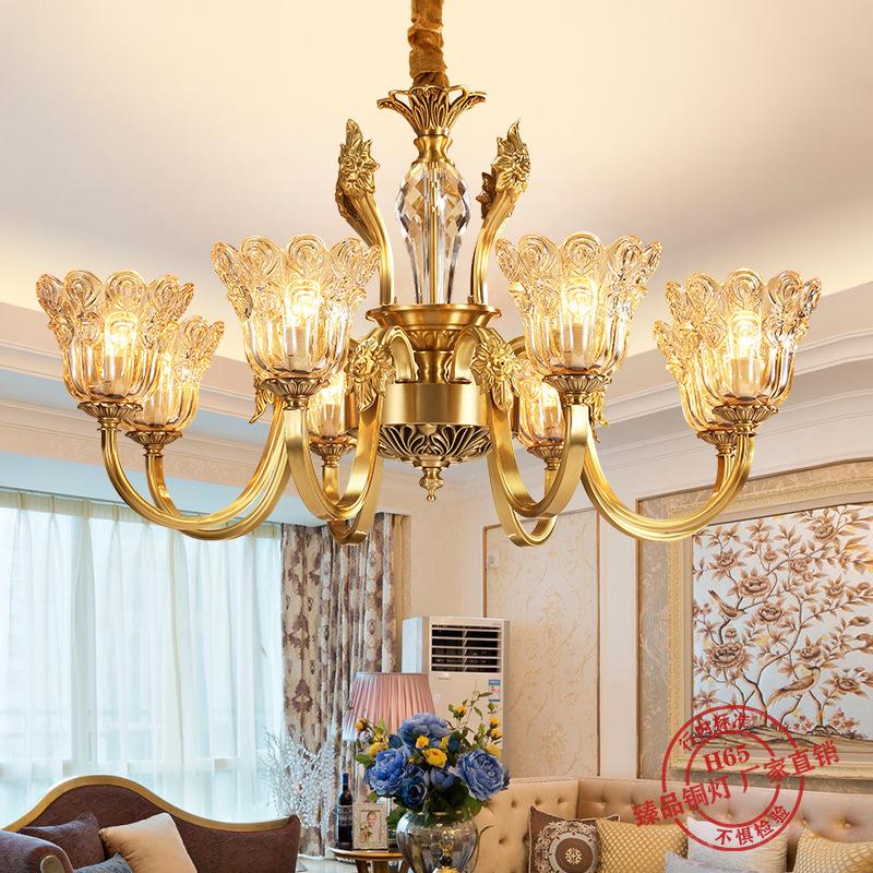 欧式吊灯全铜灯客厅卧室灯创意灯餐厅灯水晶吊灯灯具灯饰