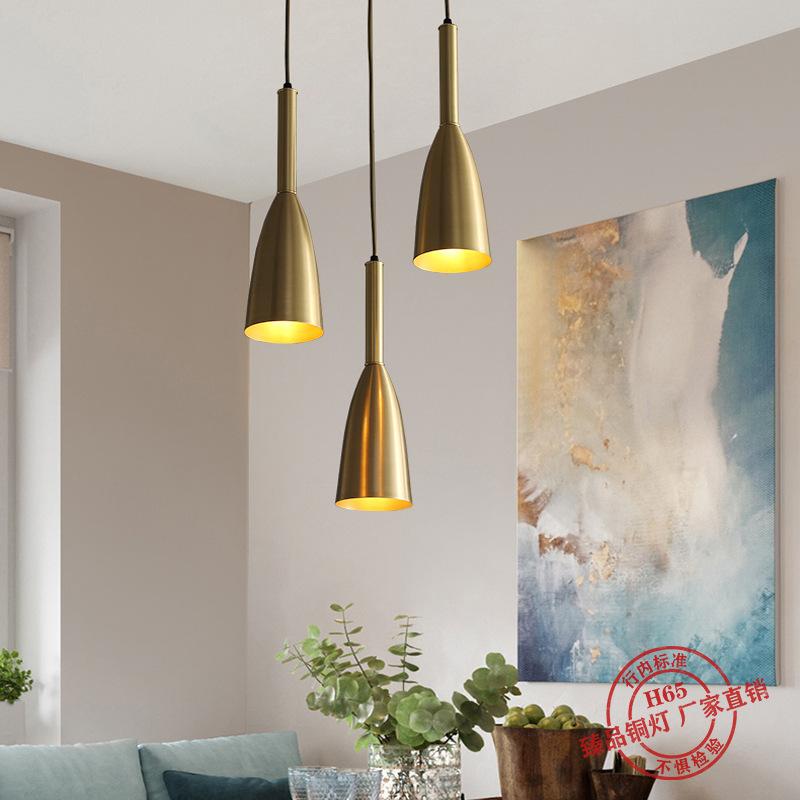 北欧三头餐厅吊灯现代简约咖啡厅饭厅吧台灯创意个性马卡龙灯具