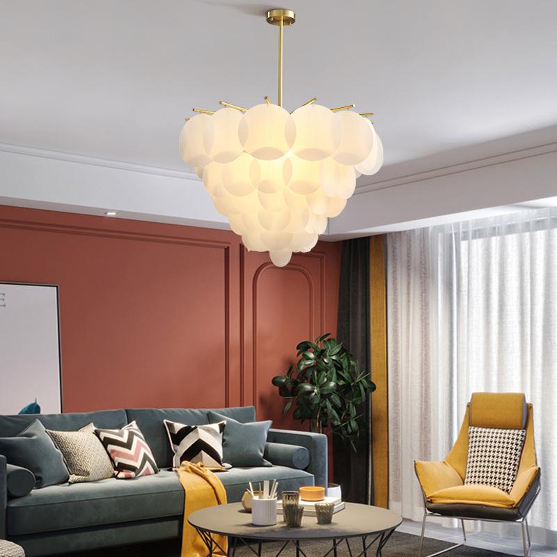 后现代轻奢全铜吊灯餐厅简约客厅灯具个性卧室灯亚克力网红灯饰