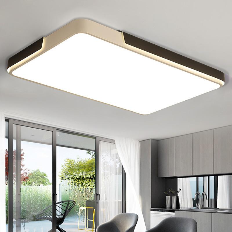 现代简约卧室吸顶灯创意个性长 方形圆形餐厅客厅led灯具北欧风格