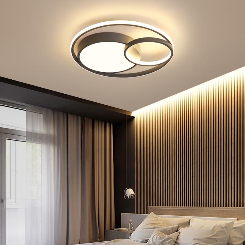 现代简约卧室灯led吸顶灯北欧主卧房间灯创意温馨浪漫小客厅灯具