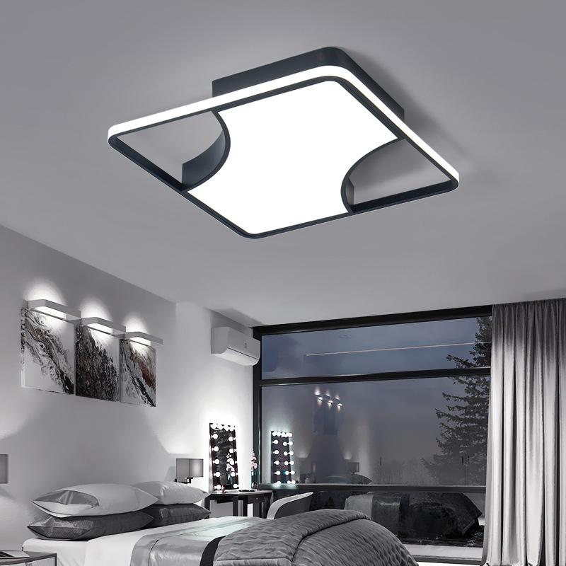 卧室灯简约现代大气家用 led吸顶灯创意个性黑白风创意书房灯具