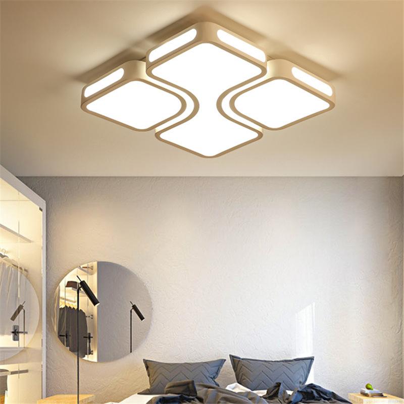 客厅灯长方形led吸顶灯具 现代简约房间灯大气家用创意主卧室灯饰