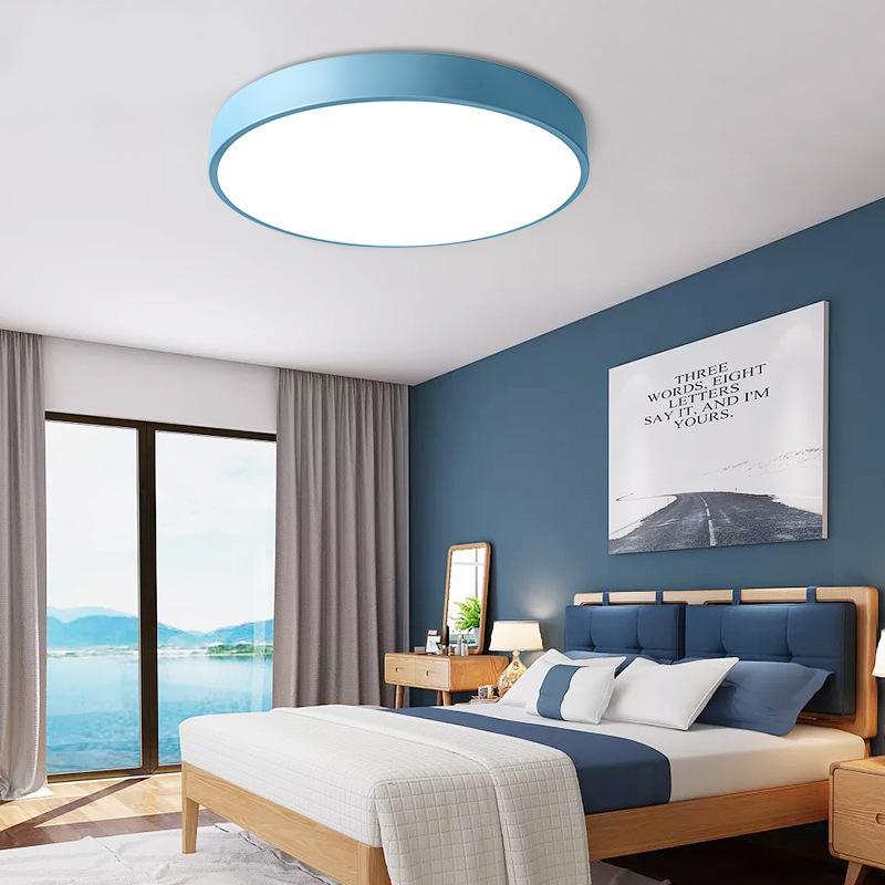 超薄卧室灯顶灯 led客厅灯 现代简约 圆形房间灯卡马龙吸顶灯饰