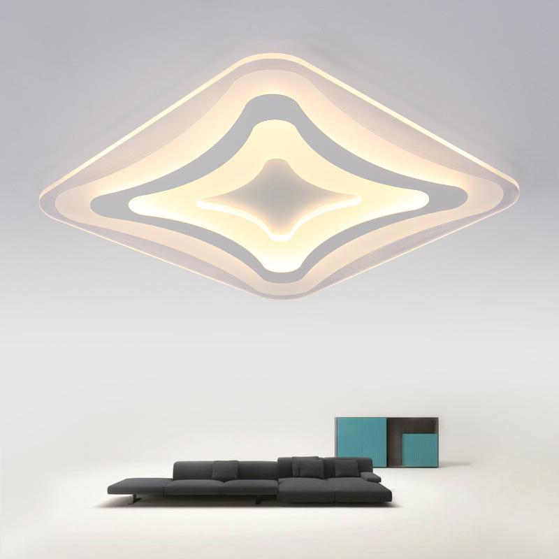 客厅灯简约现代大气长方形led吸顶灯时尚创意卧室书房餐厅大灯具